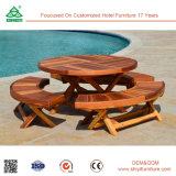 Piscina al aire libre Reclaimed Wood Chair Mesa de comedor