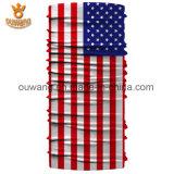 Bandana senza giunte multifunzionale della multi bandiera nazionale su ordinazione di scopo