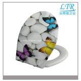 Asiento de tocador impreso movible de las mercancías sanitarias de cerámica
