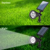 Luz impermeable al aire libre del paisaje de la lámpara de la seguridad de la luz 4 LED del césped del jardín del punto del proyector de la energía solar