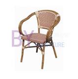 Starbucksの椅子を手編む簡単な屋外アルミニウムPEの藤