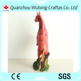 ホーム装飾のハンドメイドの赤い樹脂の馬の彫像