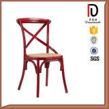Qualitäts-Hochzeits-Bankett-Hall-Kreuz-Rückseiten-Stuhl mit örtlich festgelegtem Schwarzes PU-Kissen