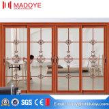 Puertas deslizantes de aluminio resistentes del buen precio con cuatro vidrios