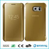 Caso elegante del tirón de la opinión del espejo para el teléfono de la galaxia de Samsung