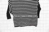 Runder Stutzen-gestreiftes dünnes strickendes Kleid für Frauen