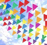 Varios indicadores de encargo al por mayor del empavesado del triángulo del banderín de la visualización del acontecimiento de la insignia