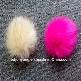 卸し売りキツネの毛皮のポンポンが付いている冬の帽子のおかしい毛皮の球