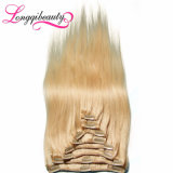 Les diverses couleurs vendent le clip en gros de Brésilien de Remy 100% dans les cheveux humains