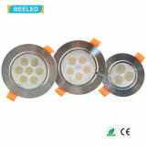 alta calidad blanca natural LED Downlight de Dimmable de la luz del punto 7W