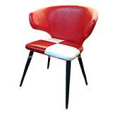 Cadeira acolchoada couro do café do restaurante do lazer do metal do plutônio (JY-R45)