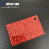 Hoja Glittering de acrílico de la tela roja