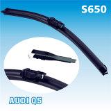 Lame d'essuie-glace spéciale dédiée d'utilisation de bras du bouton poussoir 16mm du système Q5 de S650 4s de pièces d'auto de nettoyeur de Quiet de gestionnaire lisse exclusif de passager