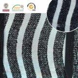 Tela preto e branco do laço do bordado de Polyster, o estilo o mais novo para o vestuário C10027 das mulheres
