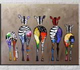 ホーム装飾のための手塗りカラー動物の油絵
