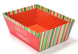 ハンドルのないクリスマスデザインホームペーパの収納箱