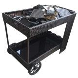 屋外の屋内庭のレストランの家具のカート/Carを食事するハンドメイドの藤のホテルの一輪車