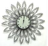 Часы стены металла металла провода часа 12 номеров декоративные вспомогательные