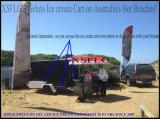 판매 (승인되는 세륨)를 위한 Xsflg 6에서 14 팬 Gelato 아이스크림 아이스 캔디 전시 손수레
