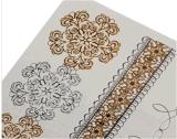 Etiqueta engomada temporal impermeable metálica del tatuaje de la flor de la plata de cadena del oro