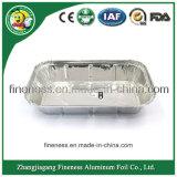 Aluminiumfolie-Behälter der Fluglinie nehmen weg