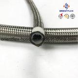 Tuyau tressé flexible de teflon d'acier inoxydable de pression