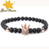 Agb-16122701b Agulha áspera semi-preciosa Ágata Escocesa Agate Necklace Bracelet