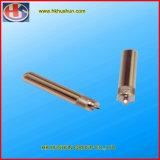 Штыри штепсельной вилки Pin изоляции Knurled точности латунные (HS-BS-45)