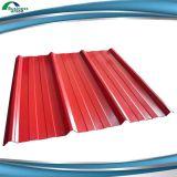 Feuille en acier ondulée galvanisée de toiture de zinc enduit de couleur de PPGI