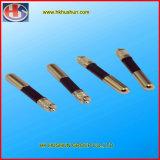 Pinos de bronze do plugue de potência do Pin da isolação da precisão serrilhada (HS-BS-45)