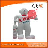 Mascotte gonfiabile bianca C1-219 del fumetto della pubblicità dell'orso polare