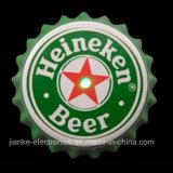 Distintivi infiammanti della protezione LED della bottiglia da birra con il marchio stampati (3569)