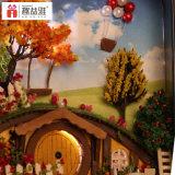 Juguete miniatura directo de la casa de muñecas del rectángulo DIY del estaño de la fuente de la fábrica