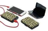 Carpeta de la tarjeta de crédito de Aluma de la función de la batería de la potencia de RFID