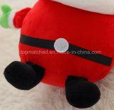 Brinquedo enchido Papai Noel de Papai Noel do luxuoso da decoração Toy/LED do Natal do luxuoso