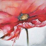 Het grote BloemenOlieverfschilderij van de Waterverf van de Grootte op Canvas