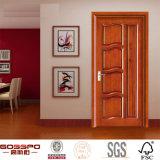 Porte intérieure en bois en bois solide de modèle de porte de panneau (GSP2-001)