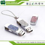 Movimentação relativa à promoção elegante do flash do USB da flor da jóia