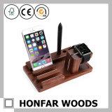 Многофункциональный держатель телефона подноса пер или древесины Iwatch