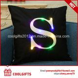 Squae LED Light 45cm*45cm Cotton Pillow met Letters Print