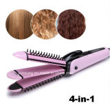 Brosse à visserie 4 in I Hair Curler Straightener Wave