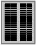 poly panneau solaire 5W pour la lumière solaire
