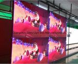Afficheur LED P16 annonçant le mur visuel