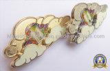 Personalizzato montato placcando Pin morbido del risvolto dello smalto dell'oro