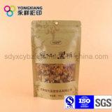 Frutos secos e malote de pé Nuts com Ziplock e indicador do papel de embalagem
