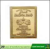 Wine Metal Label, imprimé personnalisé à bas prix Designer Label