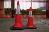 Coni garantiti di traffico del PE di qualità con la base nera