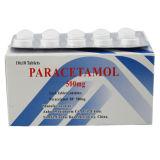 El paracetamol marca en la tableta la tablilla de la droga de la medicina