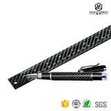 Pena de Ballpoint luxuosa nova por atacado da fibra do carbono da promoção com mola superior