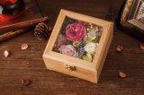 Fiore conservato di legno per il regalo di cerimonia nuziale